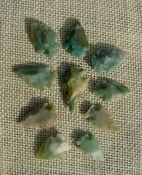 10 replica arrowheads color stone arrow head bird points sa33