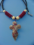 "2 1/4"" arrowhead necklace wire wrapped beautiful replica wrn25"