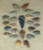24 bulk arrowheads 1 spearhead arrowheads earthtones ms40
