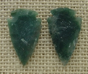 1 pair arrowheads for earrings stone green replica point ae87