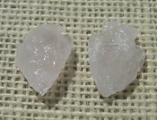 1 rose quartz arrowheads pair for earrings reproduction rq9