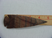 4 3/4 inch reproduction spearhead striped spear stone point x460