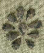 10 stone arrowheads all natural stone replica arrow heads sa531