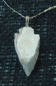 "1.49"" druzy arrowhead necklace reproduction necklace na38"
