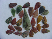 25 stone arrowheads 3 inch spearhead reproduction color x301