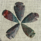 "2"" inch arrowheads 5 pack mixed colors replica.bird points sa737"