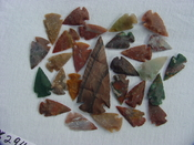 25 stone arrowheads 3 inch spearhead reproduction colors x294