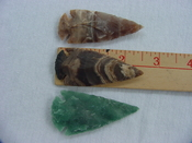 3 arrowheads replica jasper arrow heads 2 1/2 inch xcy117