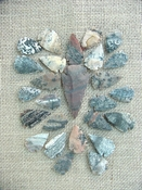 25 pc arrowheads 1 spearhead stone reproduction collection ks136