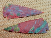 2 reproduction spear heads spearhed point 4 inch jasper ya319