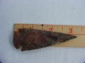 Reproduction spearhead point spear head 3 1/4 inch jasper x437