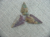 3 special arrowheads reproduction multi colored arrowheads k102