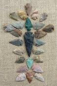 24 stone arrowheads 1 spearhead bulk arrowheads earthy ms4