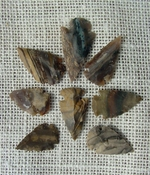 10 brown striped multi colors reproduction arrowheads ks539