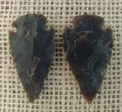 1 pair arrowheads for earrings stone brown replica point ae19