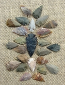 24 stone arrowheads 1 spearhead bulk arrowheads earthy ms23