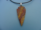 "2 1/4"" arrowhead necklace reproduction beautiful replica wrn49"