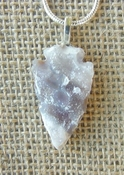"1.37"" drussy arrowhead necklace replica beautiful crystals na150"