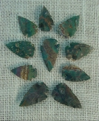 10 replica arrowheads green stone arrow head bird points sa369