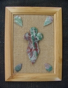 Framed arrowhead spearhead cross replica collection pf20