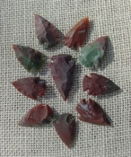 10 Red & Green & multi color reproduction arrowheads ks569
