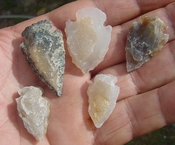 5 druzy arrowheads sparkling drusy crystals arrow heads md60