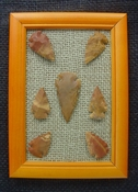Framed arrowheads spearhead replica collection earth tones pf15