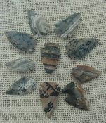 10 replica arrowheads color stone arrow head bird points ks509