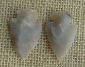 1 pair arrowheads for earrings stone light replica point ae28