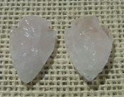 1 rose quartz arrowheads pair for earrings reproduction rq4