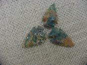 3 special arrowheads reproduction multi colored arrowheads k116