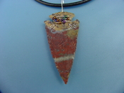 "2 1/4"" arrowhead necklace wire wrapped beautiful replica wrn41"