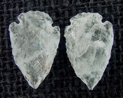 1 pair arrowheads for earrings clear crystal quartz replica cq4