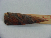 Speckled spearhead reproduction 5 1/4 inch agate or jasper x314