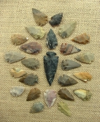 24 bulk arrowheads 1 spearhead arrowheads earthtones ms37