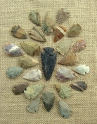 24 bulk arrowheads 1 spearhead arrowheads earthtones ms44