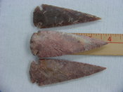 3 piece reproduction spearheads 3 3/4 inch collection x748