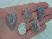 5 druzy arrowheads replica beautiful all natural druzy drusy dr3