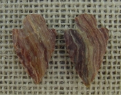 1 pair arrowheads for earrings stone striped replica point ae18