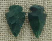 1 pair arrowheads for earrings stone green replica point ae86