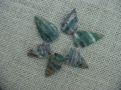 6 specialty arrowheads reproduction green arrowheads k58