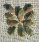 10 Light green with multi colors reproduction arrowheads ks605