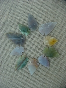 Semi translucent10 arrowheads reproduction arrowheads k63