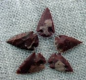 5 rusty arrowheads reddish reproduction bird points ks361