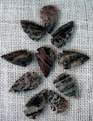10 arrowheads with spots spotted reproduction bird points ks496