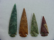 4 piece collection reproduction spearhead stone jasper x352
