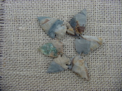6 special arrowheads reproduction multi colored arrowheads k48